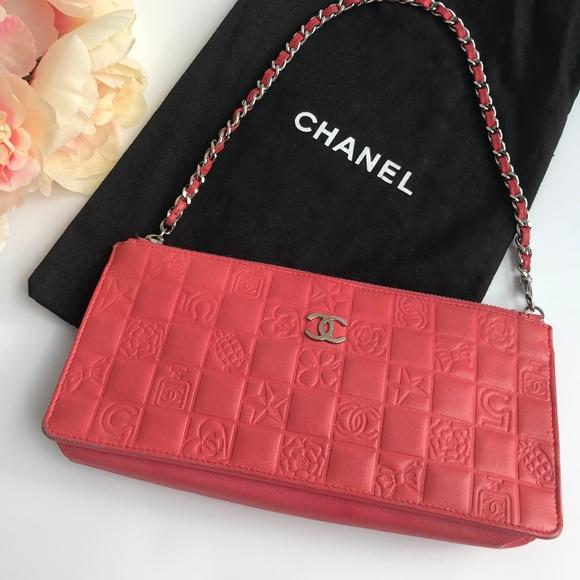 64a47d217d14 CHANEL Handbags - Chanel Precious Symbols Pochette Lambskin $1,195